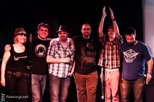 Die Sieger der dritten Vorrunde des Battle of Bands 2012: Tommy Klapper und Band