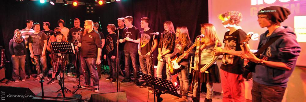 Die Rock-Camp Teilnehmer, Betreuer und Musiklehrer