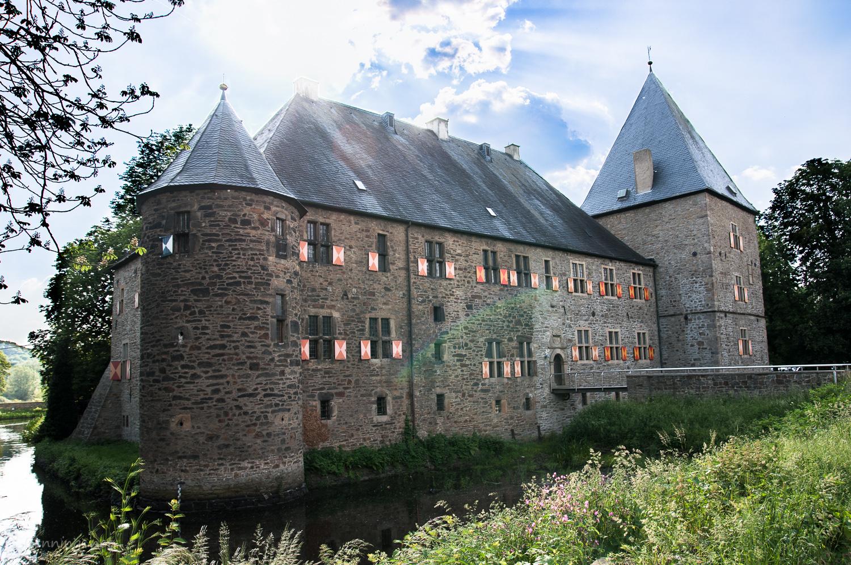 Die östliche Außenfassade des Haus Kemnade (Herrenhauses)